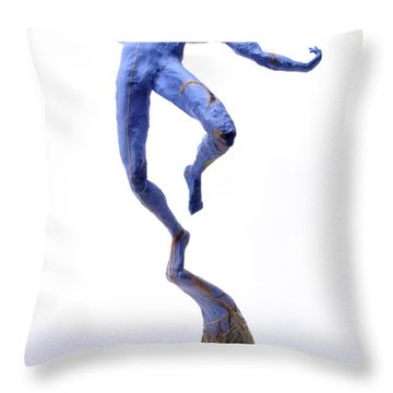 Foxtails In The Breeze Throw Pillow by Adam Long