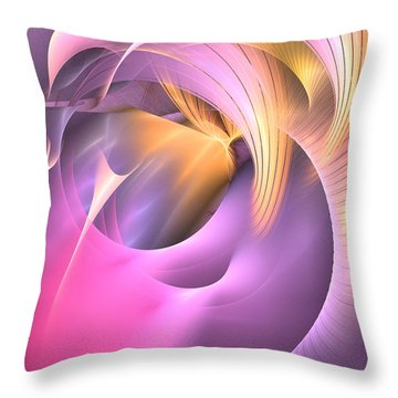 Cornu Copiae - Abstract Art Throw Pillow