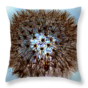 Fractal Seed Throw Pillow by Marty Koch