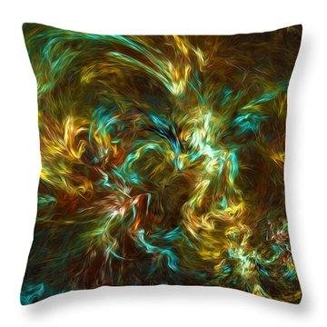 Fractal002 Throw Pillow by Svetlana Sewell