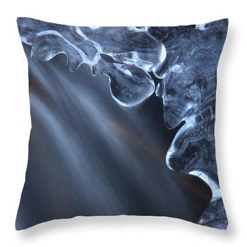 Fragile Ice Formation Throw Pillow by Ulrich Kunst And Bettina Scheidulin