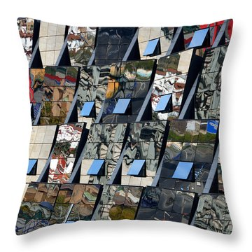 Fragmented Guggenheim Museum Bilbao Throw Pillow by RicardMN Photography