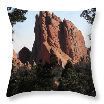 Throw Pillow featuring the photograph Frame Of Pines by Clarice  Lakota
