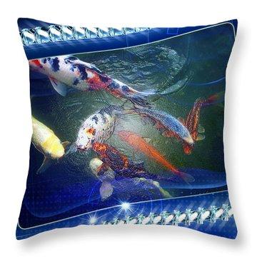 Framed Coy  Throw Pillow
