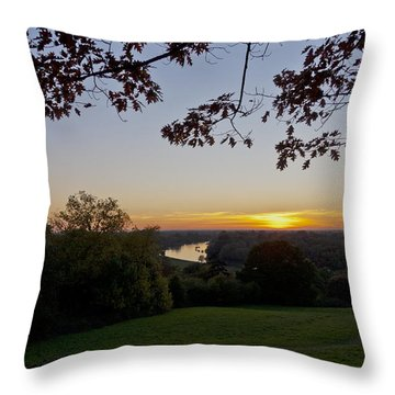 Throw Pillow featuring the photograph Framed Sunset by Maj Seda