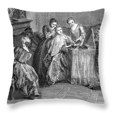France: Daily Life Throw Pillow by Granger