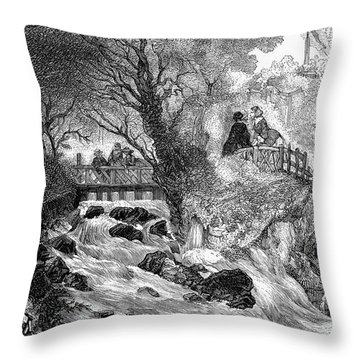 France: Divonne, 1856 Throw Pillow by Granger