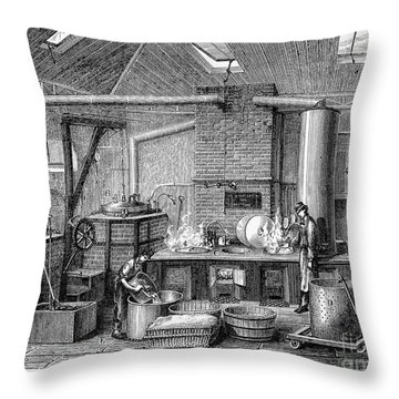 France: Food Laboratory Throw Pillow by Granger