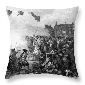 France: Fronde Battle, 1652 Throw Pillow by Granger
