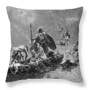 France: Gauls Fleeing Throw Pillow