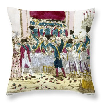 France: Versailles, 1789 Throw Pillow by Granger