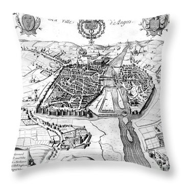 France: Walled City, 1688 Throw Pillow by Granger