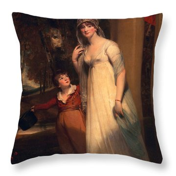 Frances Borlase Later Frances Grenfell And Pascoe George Norman Grenfel Throw Pillow by Sir Martin Archer Shee