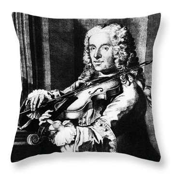 Francesco Maria Veracini Throw Pillow by Granger