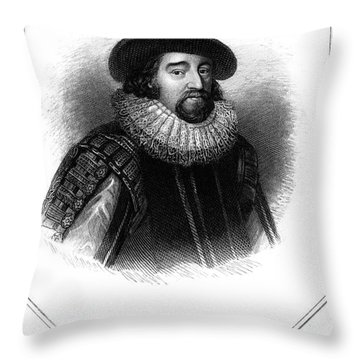 Francis Bacon (1561-1626) Throw Pillow by Granger