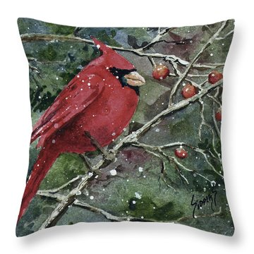 Franci's Cardinal Throw Pillow