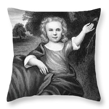 Francis Folger Franklin Throw Pillow by Granger