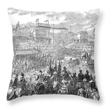 Francis Joseph I (1830-1916) Throw Pillow by Granger