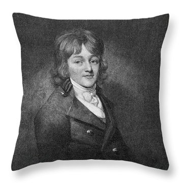 Francis Scott Key Throw Pillow by Granger