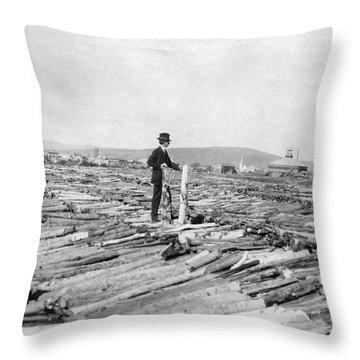 Frank G. Carpenter (1855-1924) Throw Pillow by Granger