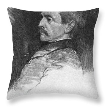 Frank R. Stockton Throw Pillow by Granger