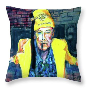 Throw Pillow featuring the painting Frankie Delboo  by Les Leffingwell