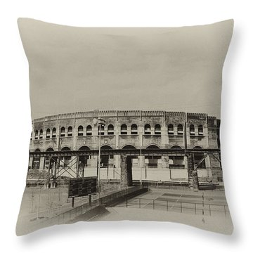 Franklin Field - University Of Penn Throw Pillow by Bill Cannon