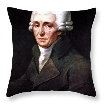 Franz Joseph Haydn Throw Pillow by Granger