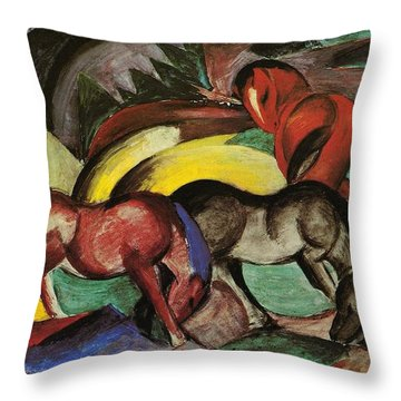 Franz Marc  Throw Pillow by Three Horses