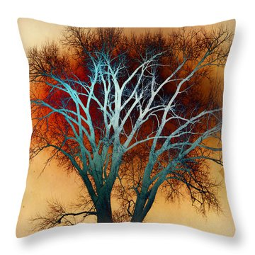 Freaky Tree 1 Throw Pillow by Marty Koch