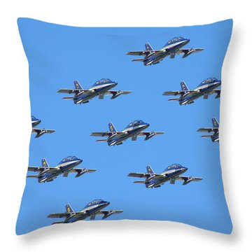 Frecce Tricolori Diamond 9 Throw Pillow