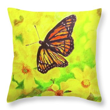 Free To Fly Throw Pillow by Beth Saffer