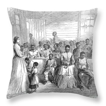 Freedmans School, 1866 Throw Pillow by Granger