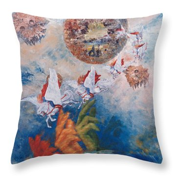Freedom - The Beginning Of All Being Throw Pillow