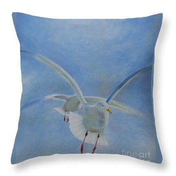 Throw Pillow featuring the painting Freedom by Annemeet Hasidi- van der Leij