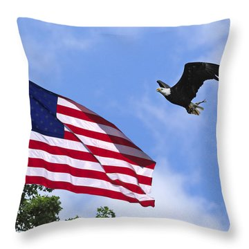 Throw Pillow featuring the photograph Freedom Feeds The Family by Randall Branham