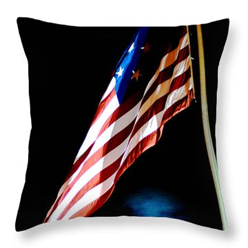 Flag On Federal Hill Throw Pillow