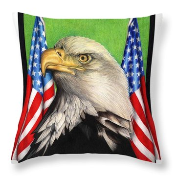 Freedoms Pride Throw Pillow by Sheryl Unwin