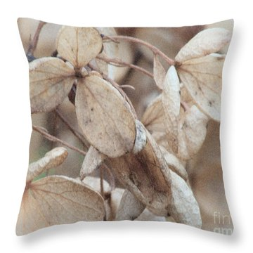 Freeze Dried Throw Pillow by Arne Hansen