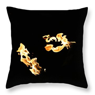 Freeze Fire 2 Throw Pillow