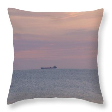 Throw Pillow featuring the photograph Freighter by Bonfire Photography