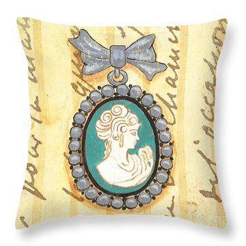 French Cameo 1 Throw Pillow by Debbie DeWitt