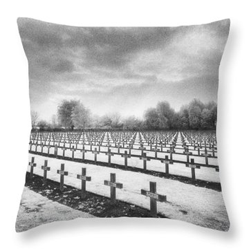 French Cemetery Throw Pillow by Simon Marsden