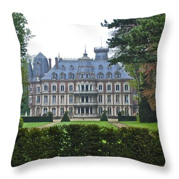 French Country Mansion Throw Pillow