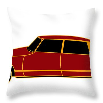 French Iconic Car - Virtual Car Throw Pillow by Asbjorn Lonvig