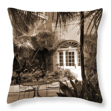 French Quarter Quite Place Throw Pillow
