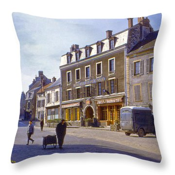 French Village Throw Pillow by Chuck Staley
