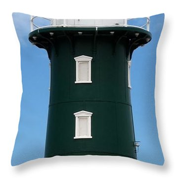 Throw Pillow featuring the photograph Freo Lighthouse by Roberto Gagliardi