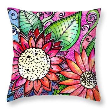 Fresch Cut Throw Pillow by Robin Mead