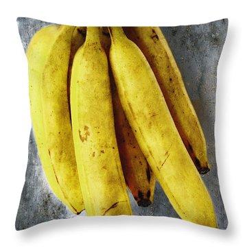 Fresh Bananas Throw Pillow by Skip Nall